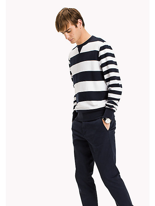 TOMMY HILFIGER Striped Crew Neck Jumper - NAVY BLAZER/BRIGHT WHITE - TOMMY HILFIGER Jumpers - main image