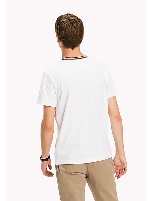 TOMMY HILFIGER Stripe Detail Regular Fit T-Shirt - BRIGHT WHITE - TOMMY HILFIGER T-Shirts - detail image 1