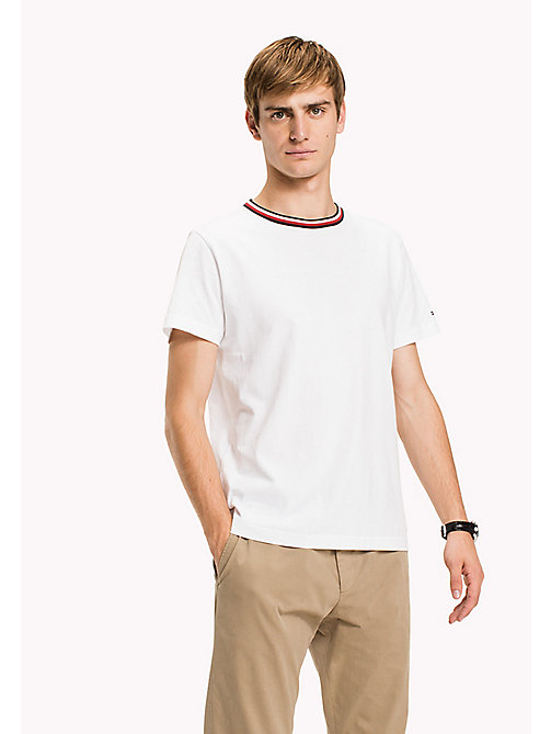 TOMMY HILFIGER Stripe Detail Regular Fit T-Shirt - BRIGHT WHITE - TOMMY HILFIGER T-Shirts - main image