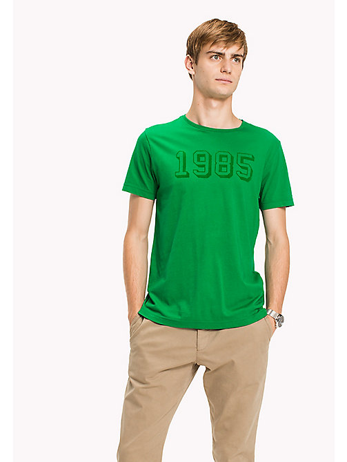 TOMMY HILFIGER Printed Regular Fit T-Shirt - JOLLY GREEN - TOMMY HILFIGER T-Shirts - main image