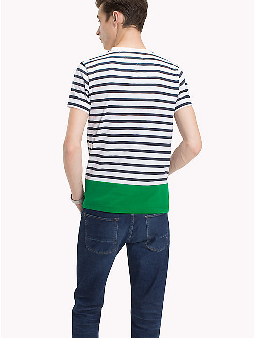 TOMMY HILFIGER Regular fit gestreept T-shirt - BRIGHT WHITE - TOMMY HILFIGER T-Shirts & Polo's - detail image 1