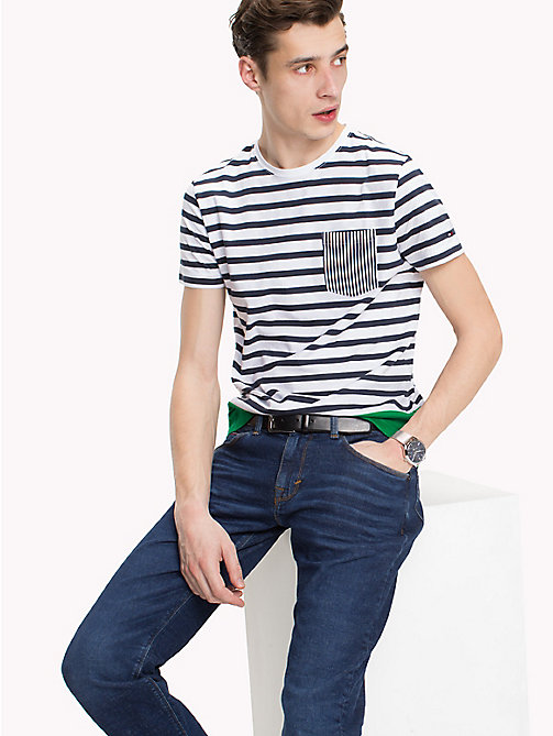 TOMMY HILFIGER Regular fit gestreept T-shirt - BRIGHT WHITE - TOMMY HILFIGER T-Shirts & Polo's - main image