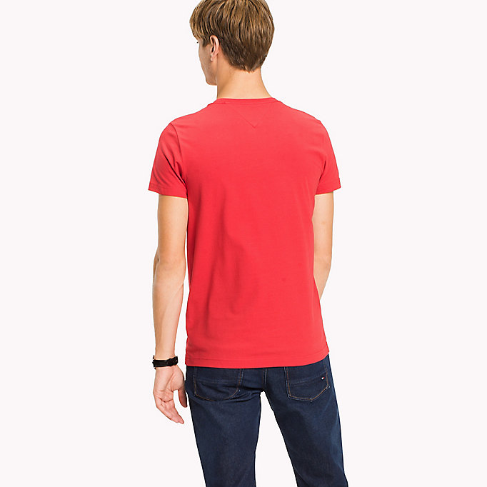 TOMMY HILFIGER Flag Slim Fit T-Shirt - CINNAMON STICK - TOMMY HILFIGER Clothing - detail image 1