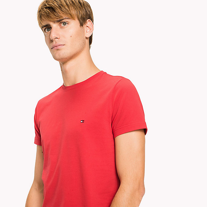 TOMMY HILFIGER Flag Slim Fit T-Shirt - CINNAMON STICK - TOMMY HILFIGER Clothing - detail image 2