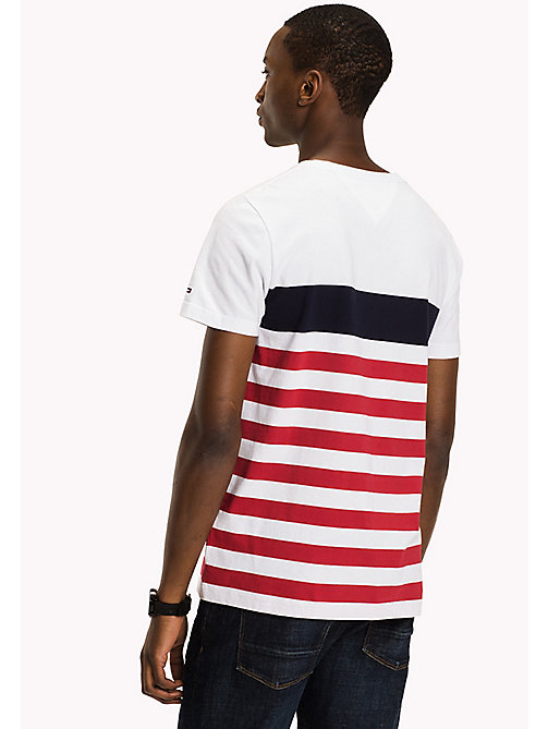TOMMY HILFIGER Striped Regular Fit T-Shirt - BRIGHT WHITE - TOMMY HILFIGER T-Shirts - detail image 1