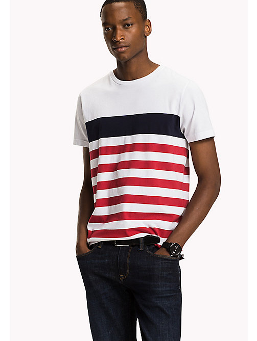 TOMMY HILFIGER Striped Regular Fit T-Shirt - BRIGHT WHITE - TOMMY HILFIGER T-Shirts - main image