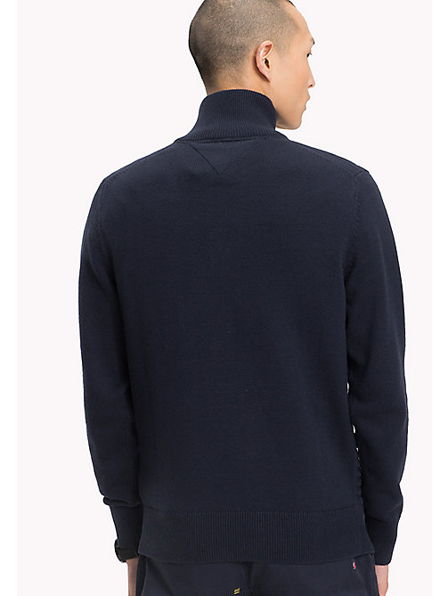 TOMMY HILFIGER Mock Neck Jumper - SKY CAPTAIN - TOMMY HILFIGER Clothing - detail image 1