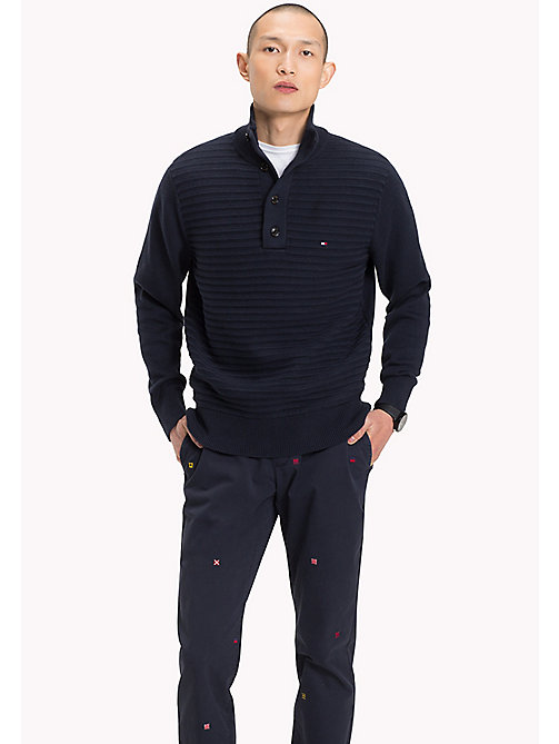 TOMMY HILFIGER Mock Neck Jumper - SKY CAPTAIN - TOMMY HILFIGER Jumpers - main image