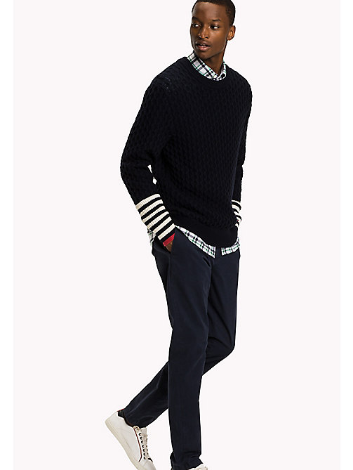 TOMMY HILFIGER Striped Crew Neck Jumper - SKY CAPTAIN - TOMMY HILFIGER Knitwear - main image