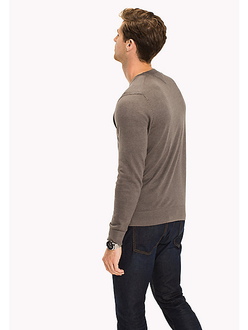 TOMMY HILFIGER Cotton Silk Crew Neck Jumper - GRANITE GRAY HEATHER - TOMMY HILFIGER Pulls & Gilets - image détaillée 1