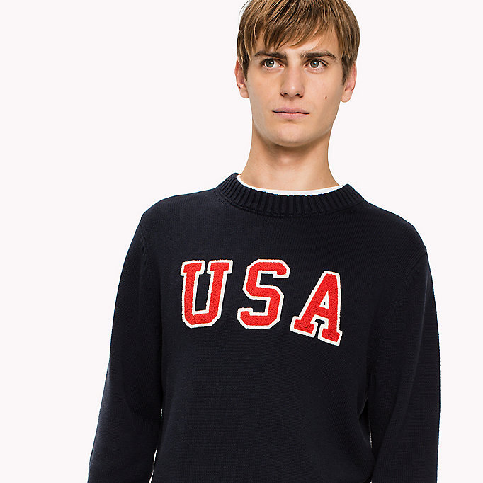 TOMMY HILFIGER Combed Cotton Crew Neck Jumper - SNOW WHITE HEATHER - TOMMY HILFIGER Clothing - detail image 2