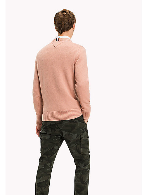 TOMMY HILFIGER Cashmere Wool Blend Jumper - DUSTY ROSE HTR - TOMMY HILFIGER Knitwear - detail image 1