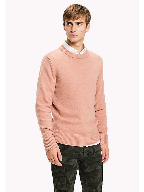 TOMMY HILFIGER Cashmere Wool Blend Jumper - DUSTY ROSE HTR - TOMMY HILFIGER Knitwear - main image