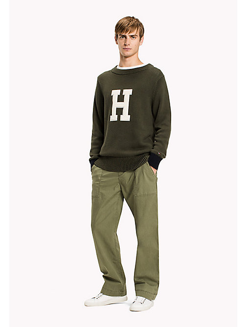 TOMMY HILFIGER Iconic Crew Neck Jumper - DEEP DEPTHS - TOMMY HILFIGER Knitwear - main image