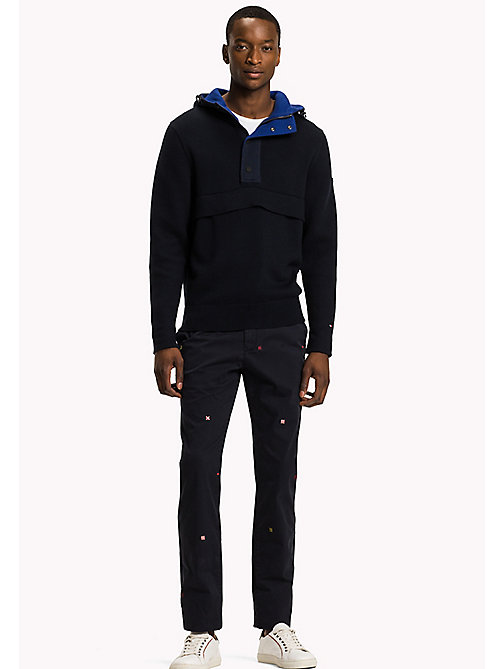 TOMMY HILFIGER Nautical Mock Neck Hoodie - SKY CAPTAIN - TOMMY HILFIGER Knitwear - main image