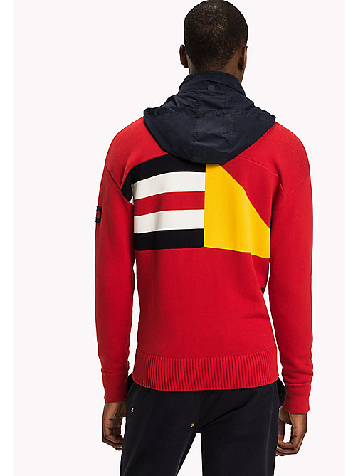 TOMMY HILFIGER Nautical Hooded Zip-Thru - BARBADOS CHERRY - TOMMY HILFIGER Knitwear - detail image 1