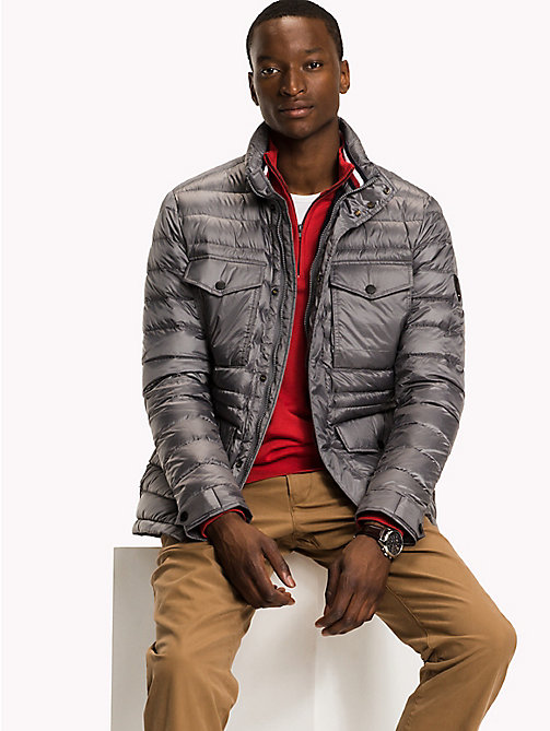 TOMMY HILFIGER Down Airfield Jacket - QUIET SHADE - TOMMY HILFIGER Coats & Jackets - main image