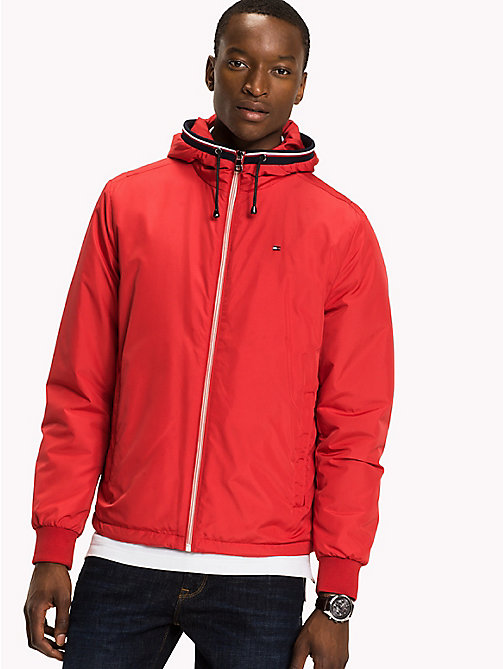 TOMMY HILFIGER Nylon Windbreaker - BARBADOS CHERRY - TOMMY HILFIGER Coats & Jackets - main image