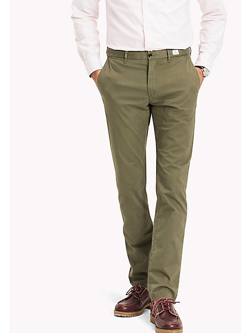 TOMMY HILFIGER Denton Chinos - FOUR LEAF CLOVER - TOMMY HILFIGER Sustainable Evolution - main image