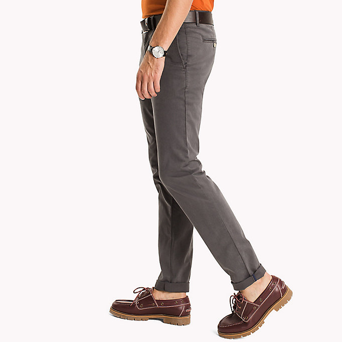 TOMMY HILFIGER Stretch Cotton Slim Fit Chinos - WALNUT - TOMMY HILFIGER Clothing - detail image 2