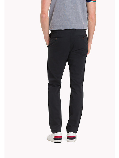 TOMMY HILFIGER Stretch Cotton Slim Fit Chinos - JET BLACK - TOMMY HILFIGER Clothing - detail image 1