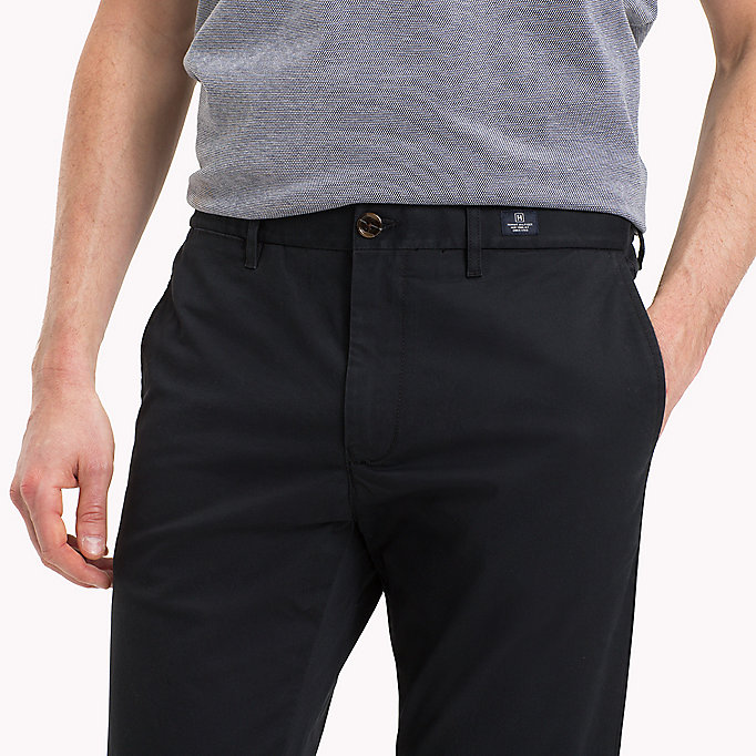TOMMY HILFIGER Stretch Cotton Slim Fit Chinos - MAGNET - TOMMY HILFIGER Clothing - detail image 3