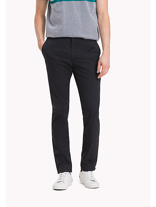 TOMMY HILFIGER Stretch Cotton Slim Fit Chinos - JET BLACK - TOMMY HILFIGER Clothing - main image