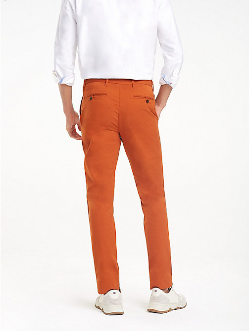 TOMMY HILFIGER Stretch Cotton Slim Fit Chinos - CINNAMON STICK - TOMMY HILFIGER Trousers & Shorts - detail image 1