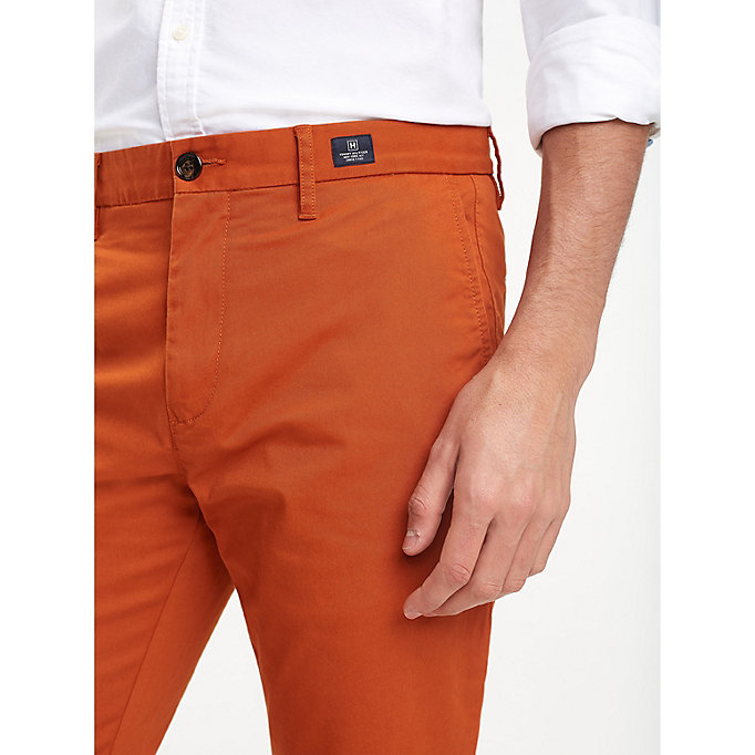 TOMMY HILFIGER Stretch Cotton Slim Fit Chinos - BRIGHT WHITE - TOMMY HILFIGER Clothing - detail image 3