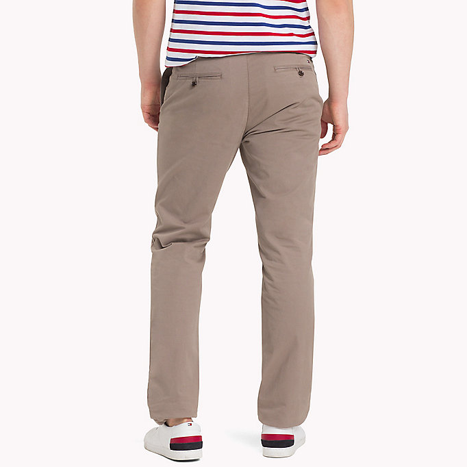 TOMMY HILFIGER Stretch Cotton Slim Fit Chinos - NAVY BLAZER - TOMMY HILFIGER Men - detail image 1