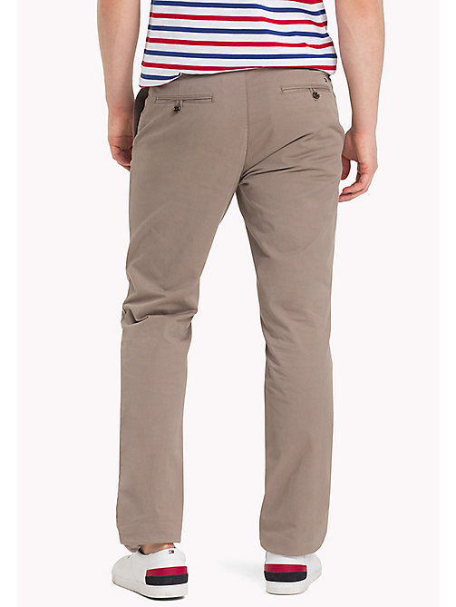 TOMMY HILFIGER Stretch Cotton Slim Fit Chinos - WALNUT - TOMMY HILFIGER Clothing - detail image 1