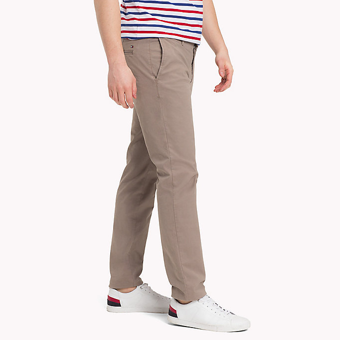 TOMMY HILFIGER Stretch Cotton Slim Fit Chinos - NAVY BLAZER - TOMMY HILFIGER Clothing - detail image 2