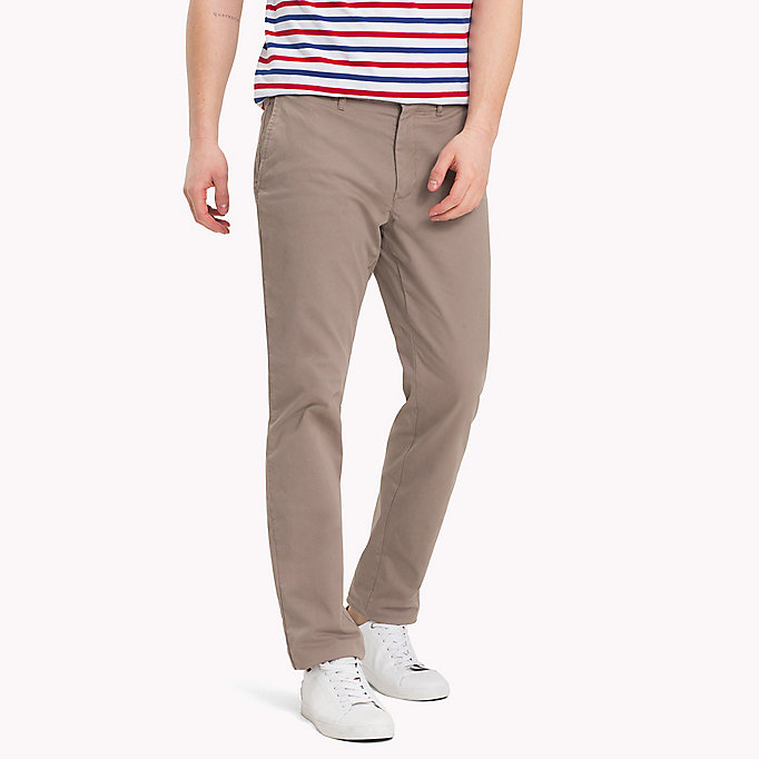 TOMMY HILFIGER Stretch Cotton Slim Fit Chinos - NAVY BLAZER - TOMMY HILFIGER Men - main image