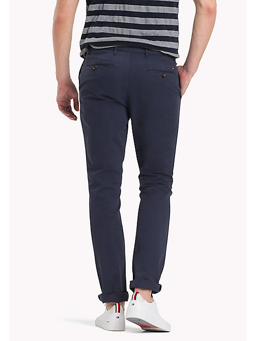 TOMMY HILFIGER Stretch Cotton Slim Fit Chinos - NAVY BLAZER - TOMMY HILFIGER Clothing - detail image 1