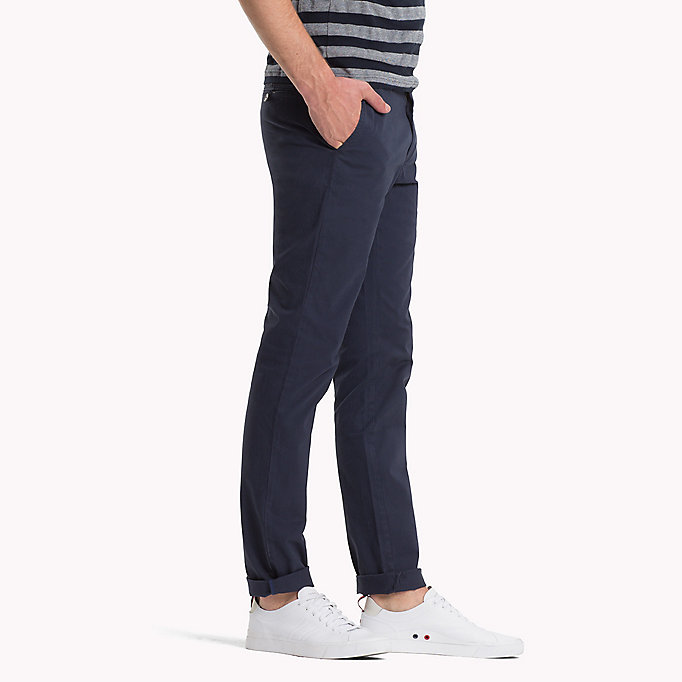 TOMMY HILFIGER Stretch Cotton Slim Fit Chinos - CINNAMON STICK - TOMMY HILFIGER Clothing - detail image 2