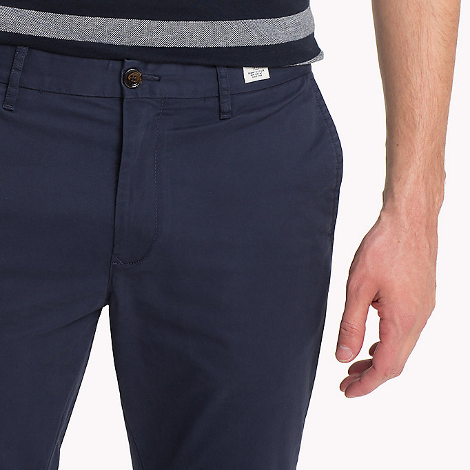 TOMMY HILFIGER Stretch Cotton Slim Fit Chinos - CINNAMON STICK - TOMMY HILFIGER Men - detail image 3