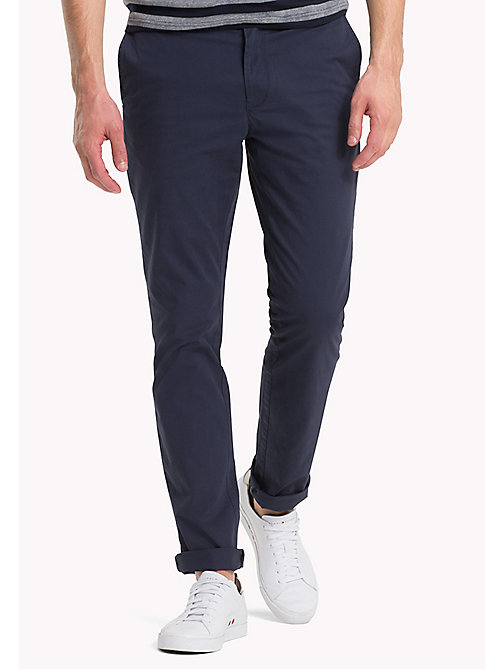 TOMMY HILFIGER Stretch Cotton Slim Fit Chinos - NAVY BLAZER - TOMMY HILFIGER Trousers & Shorts - main image