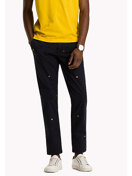 TOMMY HILFIGER Embroidered Straight Fit Chinos - SKY CAPTAIN - TOMMY HILFIGER Trousers - main image
