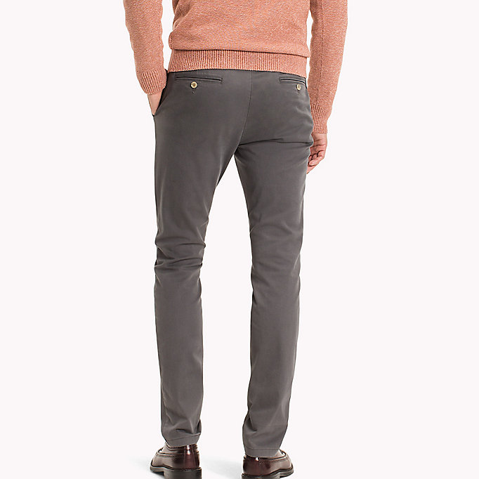 TOMMY HILFIGER Slim Fit Chino - GRAY VIOLET - TOMMY HILFIGER Clothing - detail image 1