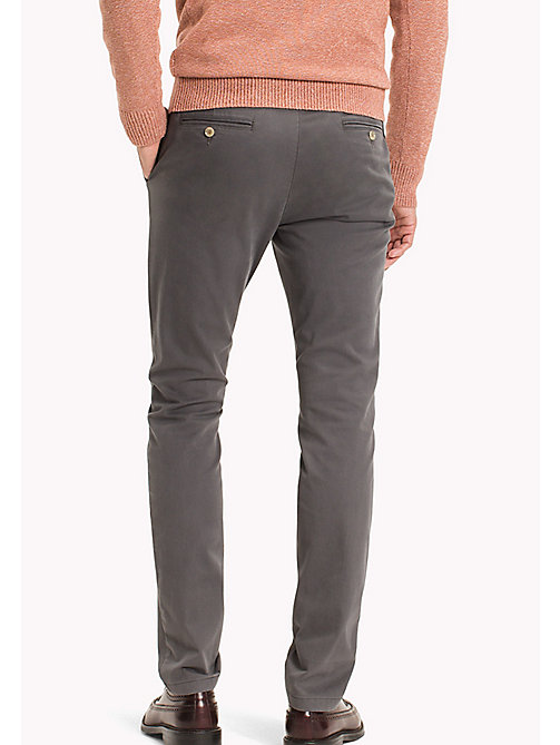 TOMMY HILFIGER Slim Fit Chino - MAGNET - TOMMY HILFIGER Чиносы - подробное изображение 1