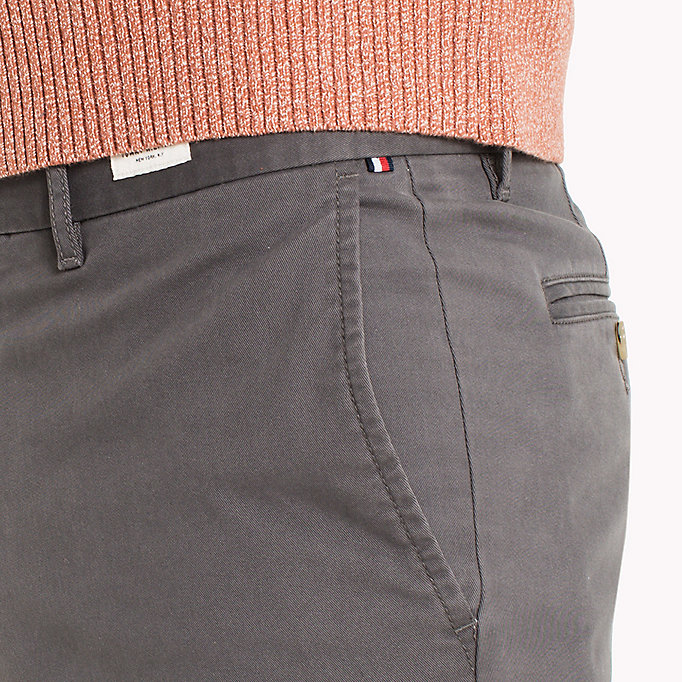 TOMMY HILFIGER Slim Fit Chino - GRAY VIOLET - TOMMY HILFIGER Clothing - detail image 3