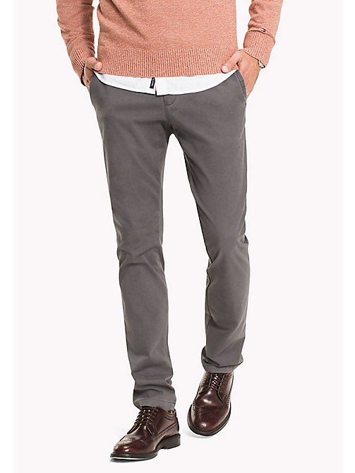 TOMMY HILFIGER Slim Fit Chino - MAGNET - TOMMY HILFIGER Clothing - main image