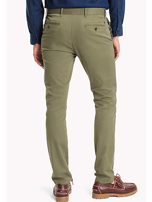 TOMMY HILFIGER Slim Fit Chino - POSY GREEN - TOMMY HILFIGER Чиносы - подробное изображение 1