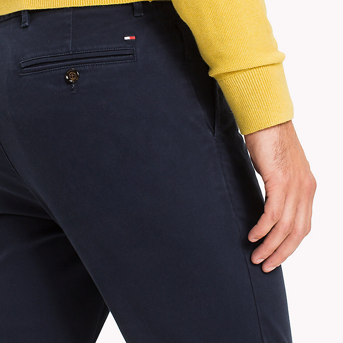 TOMMY HILFIGER Slim fit chino - HAUTE RED - TOMMY HILFIGER Kleding - detail image 3
