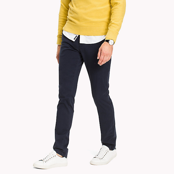 TOMMY HILFIGER Slim fit chino - HAUTE RED - TOMMY HILFIGER Kleding - main image