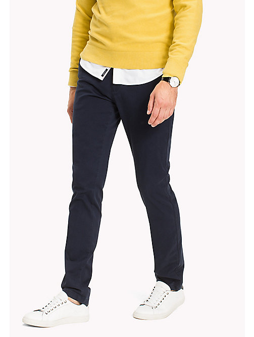 TOMMY HILFIGER Pantalon chino coupe slim - NAVY BLAZER - TOMMY HILFIGER Vetements - image principale