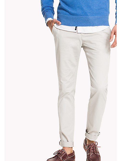 TOMMY HILFIGER Slim Fit Chino - GRAY VIOLET - TOMMY HILFIGER Trousers & Shorts - main image