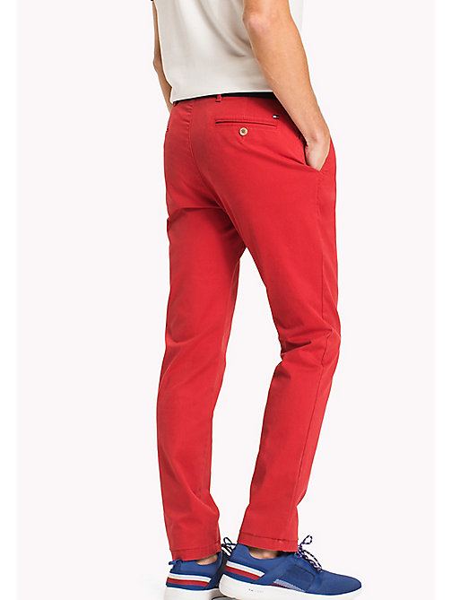 TOMMY HILFIGER Slim Fit Chino - HAUTE RED - TOMMY HILFIGER Trousers & Shorts - detail image 1