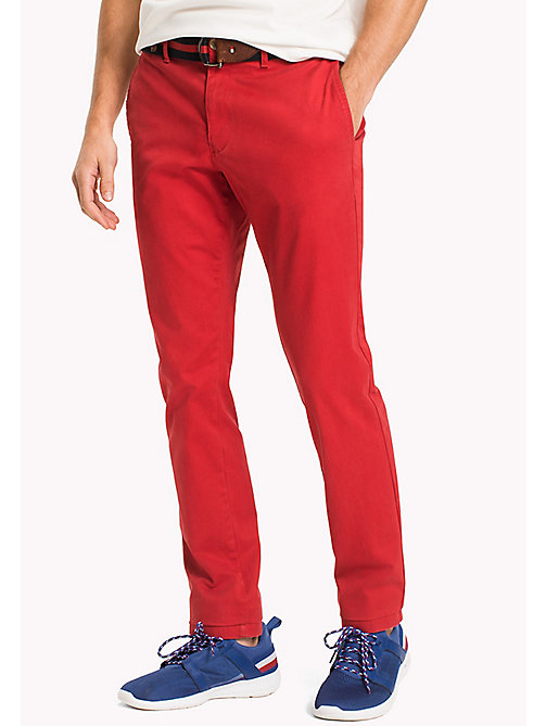 TOMMY HILFIGER Slim Fit Chino - HAUTE RED - TOMMY HILFIGER Trousers & Shorts - main image