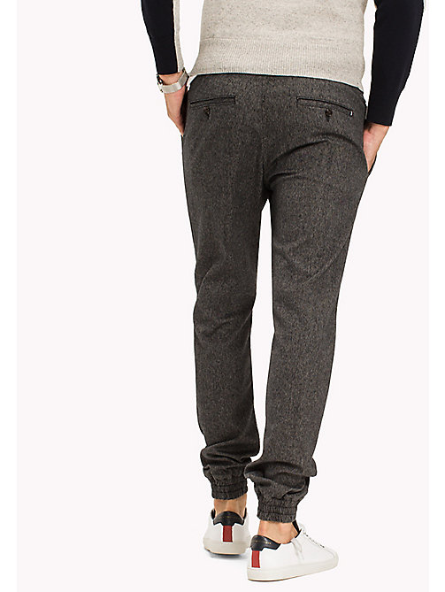 TOMMY HILFIGER Active Neppy Cotton Trousers - SKY CAPTAIN - TOMMY HILFIGER Trousers - detail image 1